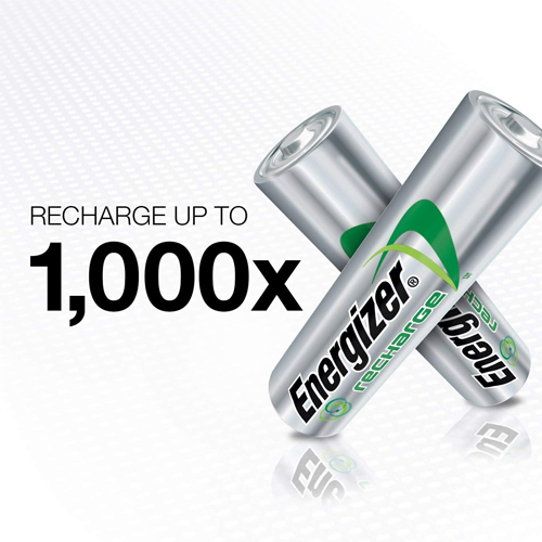 Energizer Rechargeable AA Batteries, NiMH, 2000 mAh, Pre-Charged, 8 count