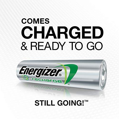 Energizer Rechargeable AA Batteries, NiMH, 2000 mAh, Pre-Charged, 4 count