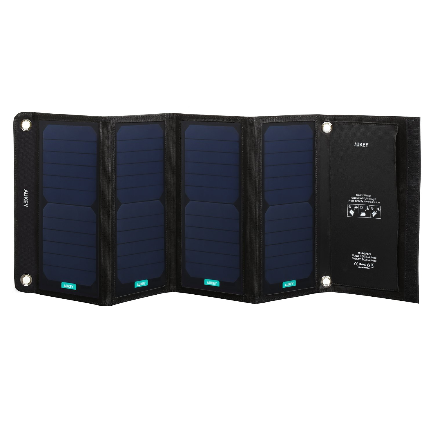 AUKEY-28W-Solar-Charger